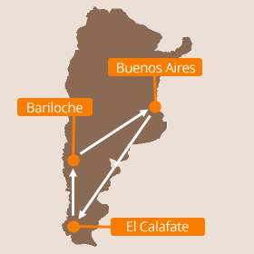 Argentina Holidays Map