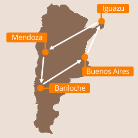 Argentina Honeymoon Map