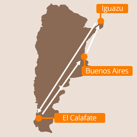 Holidays in Argentina Map