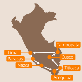 Holidays in Peru Map