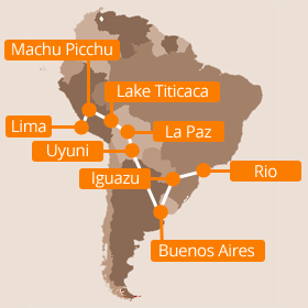 South America Holiday Map