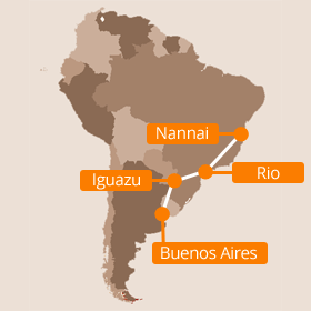 South America Honeymoon Map