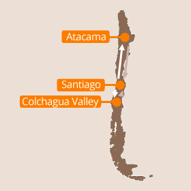 Chile wine country map